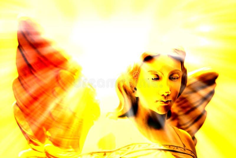 Ängel och himla- ljus royaltyfri foto