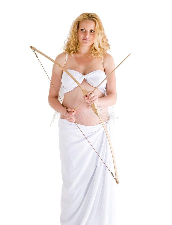 ängel som gravid kvinna royaltyfri fotografi
