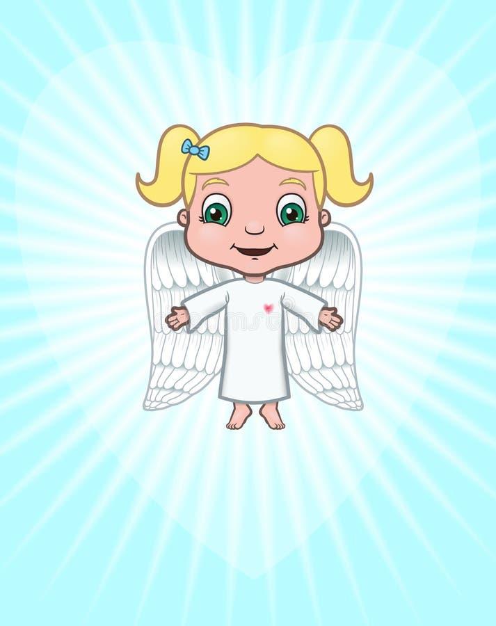 ängel som medf8or förälskelse stock illustrationer