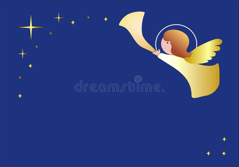ängelbakgrund little royaltyfri illustrationer