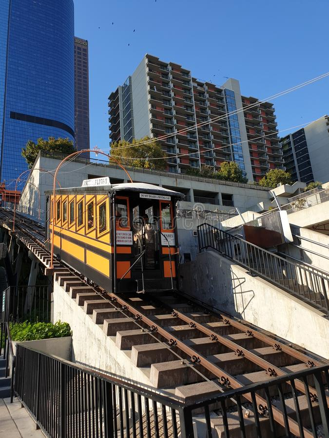Ängelflygjärnväg - LOS ANGELES royaltyfria foton