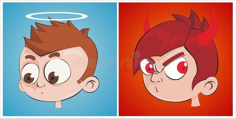 ängeljäkel vs vektor illustrationer