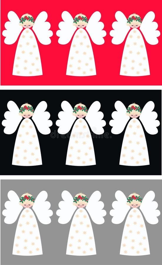 ängeljul stock illustrationer
