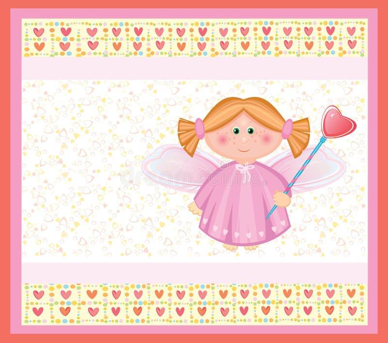 ängelkort stock illustrationer
