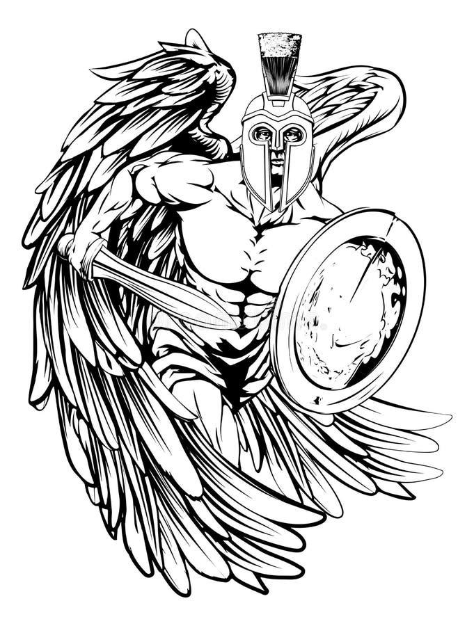 Ängelmaskot royaltyfri illustrationer