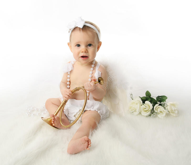 ängeln behandla som ett barn flickan fotografering för bildbyråer