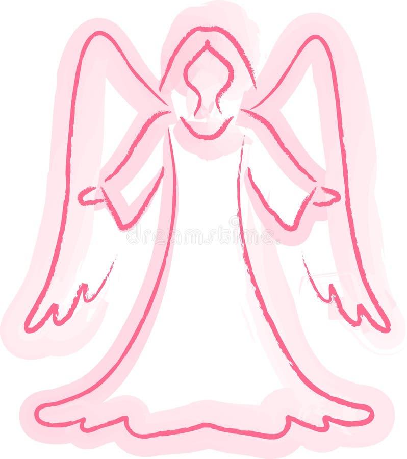 ängeln skissar vektor illustrationer