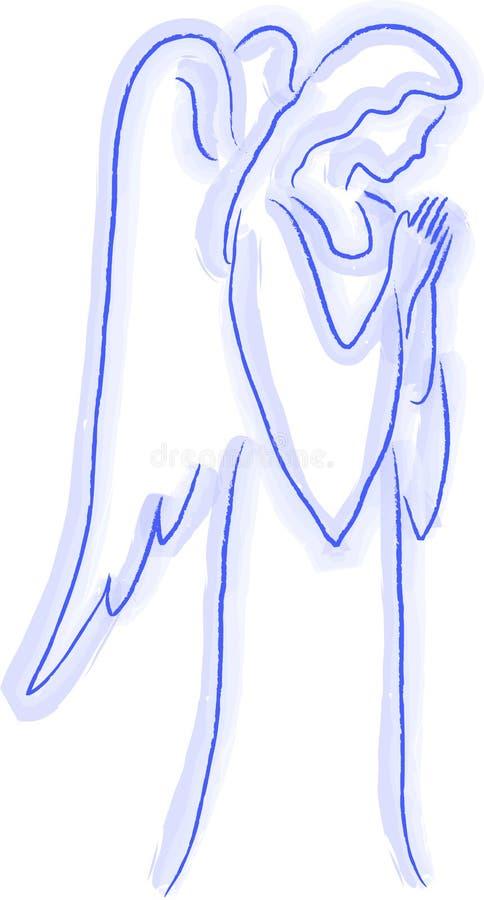 ängeln skissar stock illustrationer