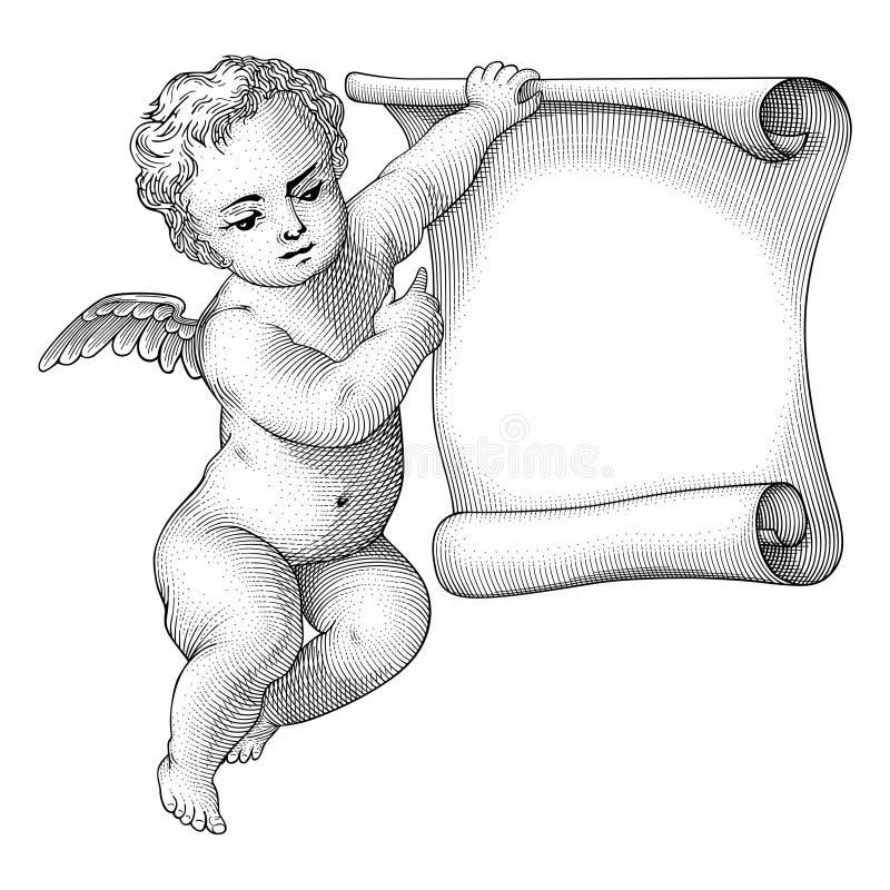ängelvektor royaltyfri illustrationer