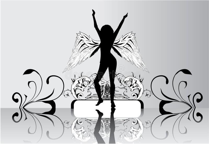ängelvingar royaltyfri illustrationer