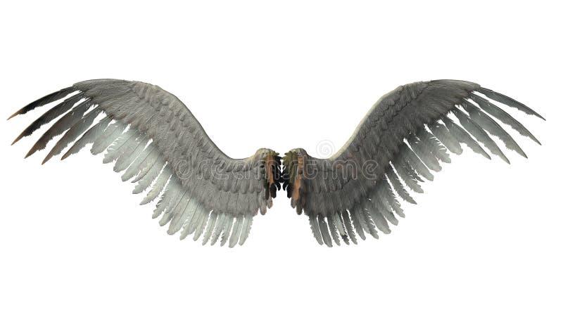 ängelvingar vektor illustrationer