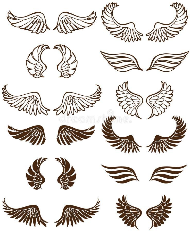 ängelvingar stock illustrationer