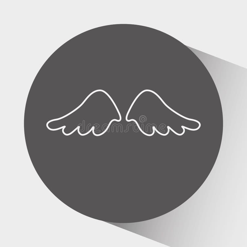 ängelvingdesign royaltyfri illustrationer