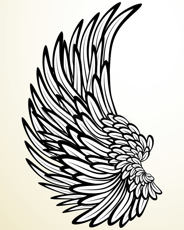 ängelvinge vektor illustrationer