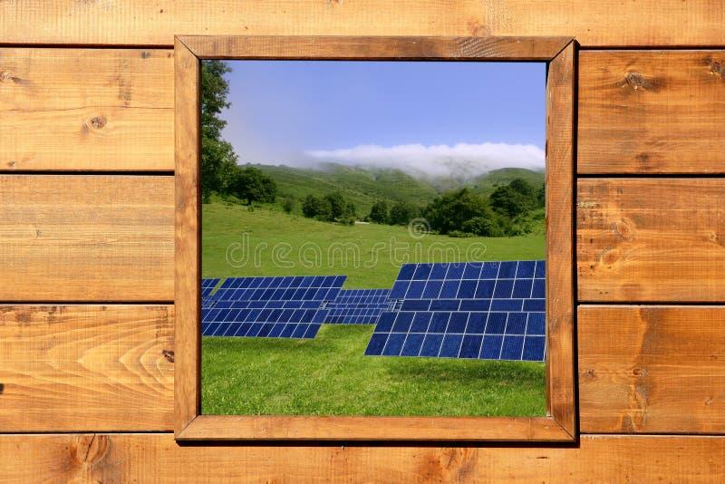 ängen plates sol- siktsfönsterträ arkivbilder