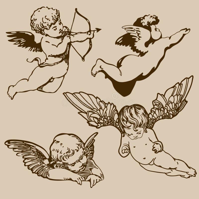 änglar stock illustrationer