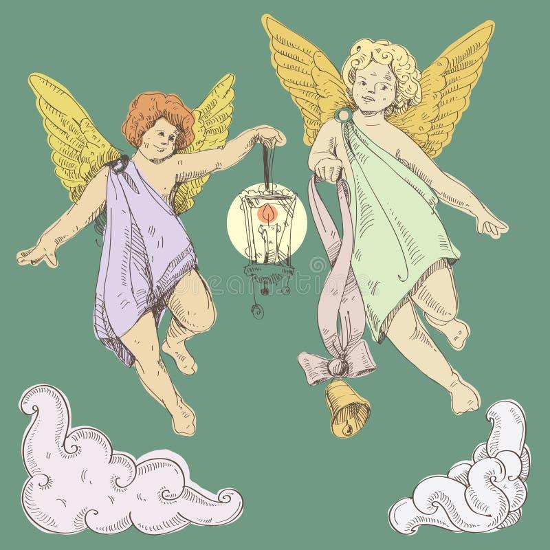 Download Änglar vektor illustrationer. Illustration av cupid, stearinljus - 27286699