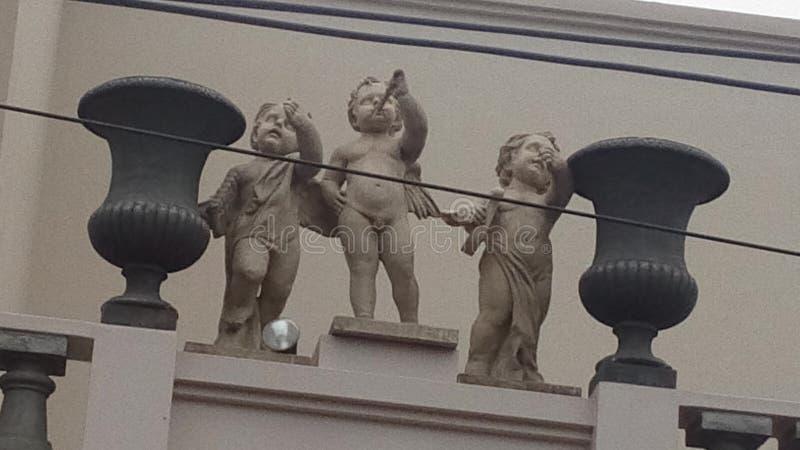 änglar tre royaltyfria foton