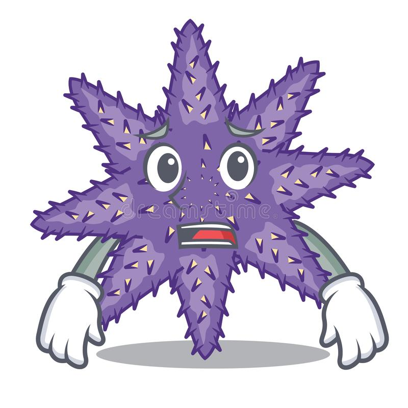 Ängstlich purpurrote Starfish in der Zeichenform lizenzfreie abbildung