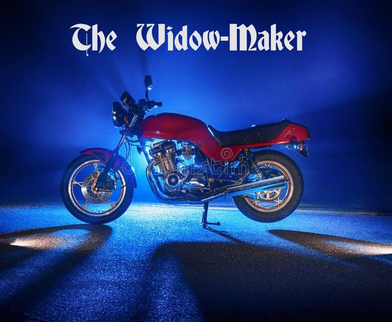 Änkatillverkaremotorcykeln arkivfoton