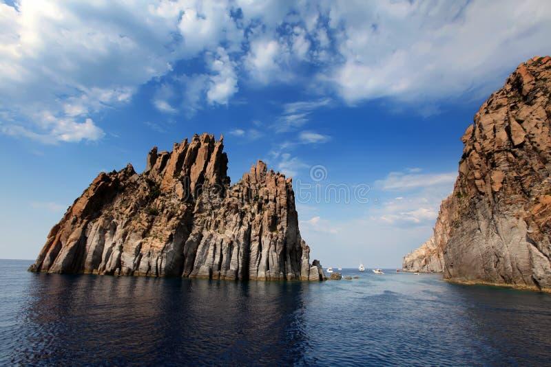 Äolische Inseln stockbild