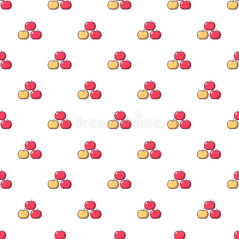 Äpfel kopieren nahtloses stock abbildung