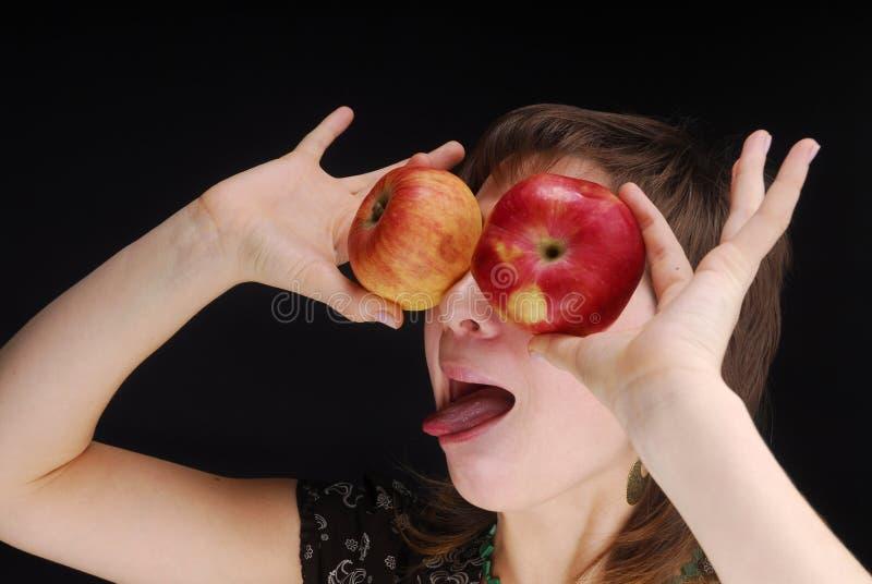 Äpfel mögen Augen lizenzfreie stockfotografie