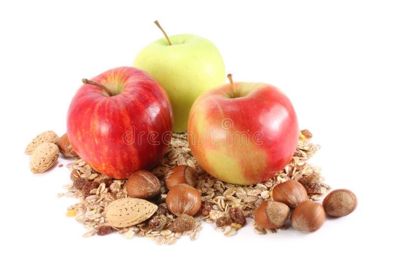 Äpfel und Getreide lizenzfreies stockbild