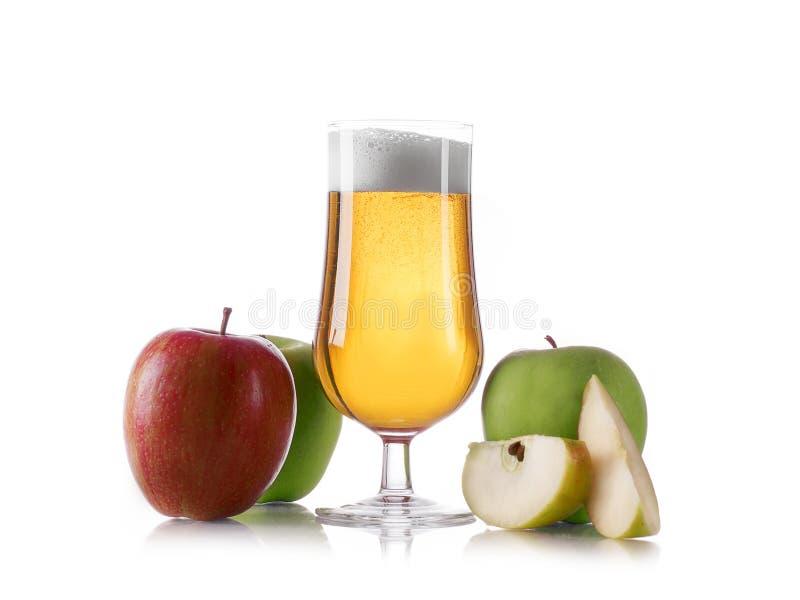 Äppelcideröl royaltyfri bild