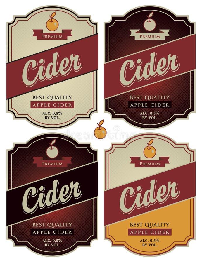 Äppelcider royaltyfri illustrationer