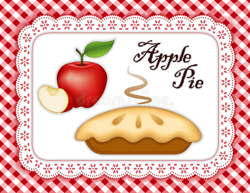 Äppelpaj royaltyfri illustrationer