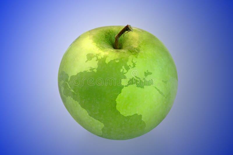 äppleöversiktsvärld royaltyfria foton