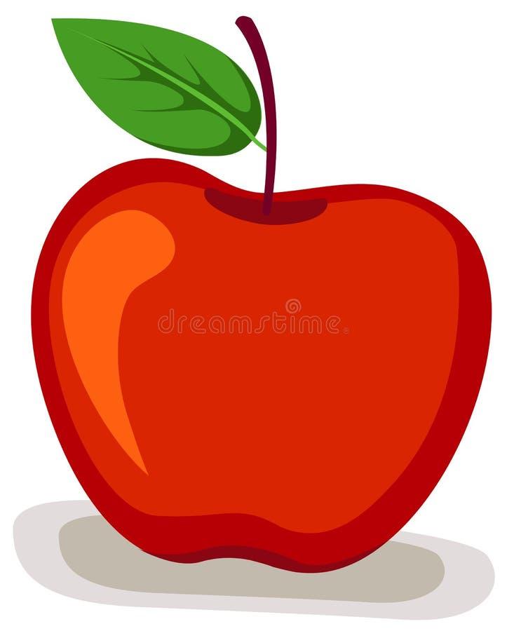 äpple royaltyfri illustrationer