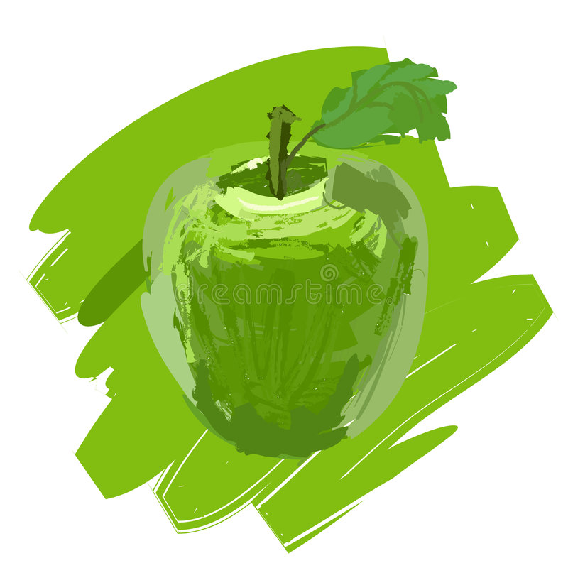 äpple stock illustrationer