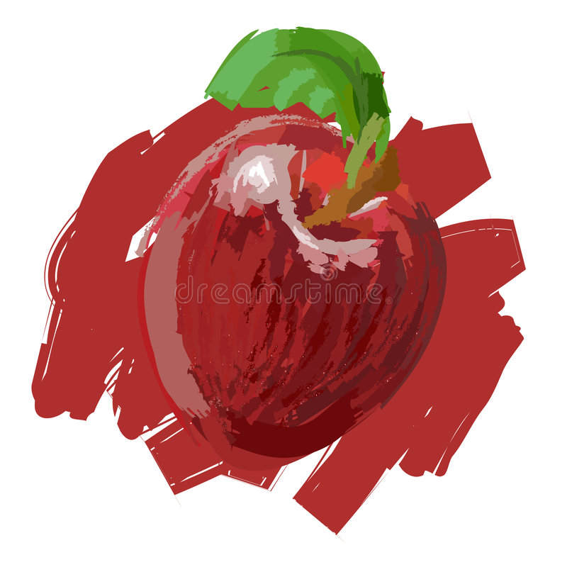 äpple royaltyfri illustrationer