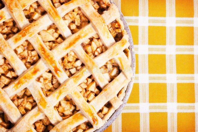 äpple bakad nytt pie fotografering för bildbyråer