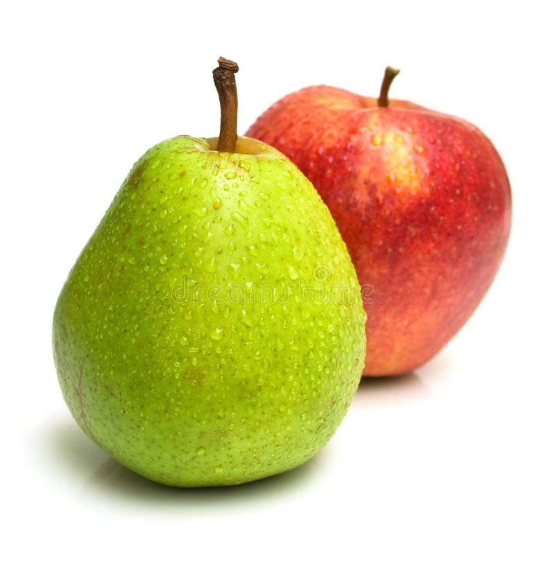 äpple - grön pearred arkivfoto