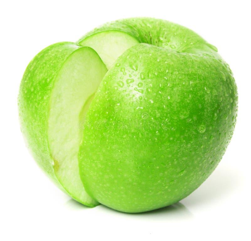 äpple - grönt saftigt arkivbilder
