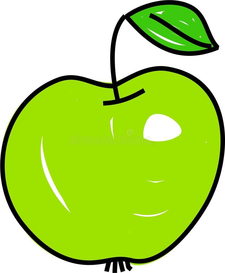 äpple - green royaltyfri illustrationer