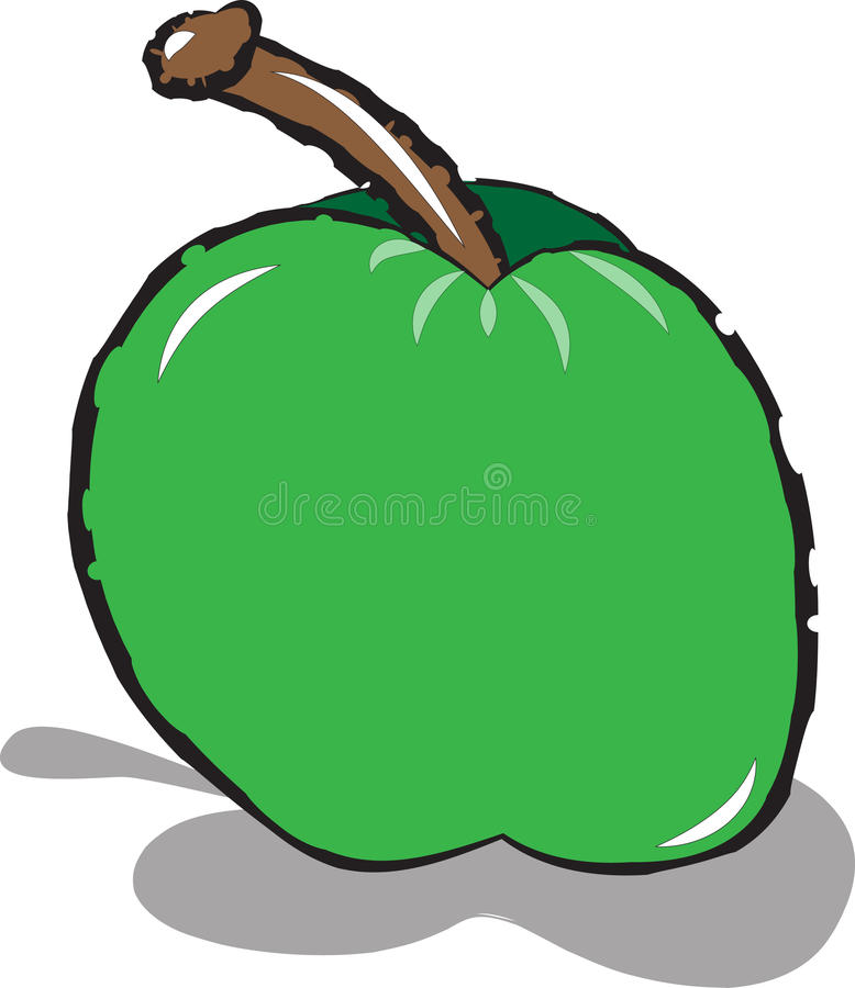 äpple - green arkivfoton