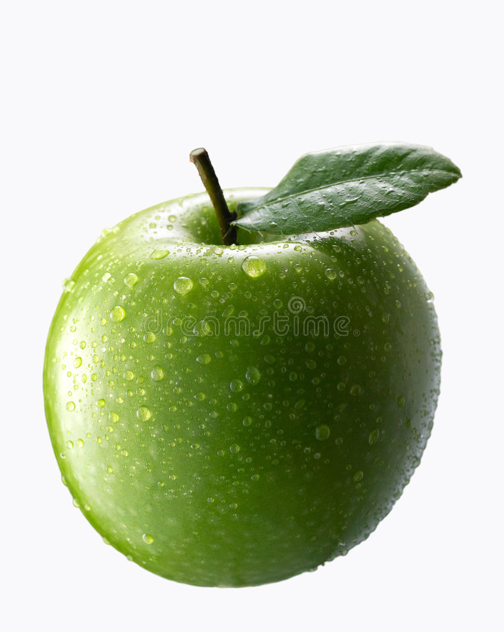 äpple - green royaltyfria bilder