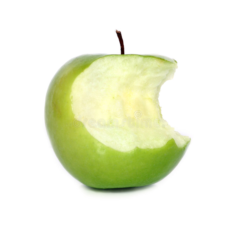 äpple - green royaltyfria foton