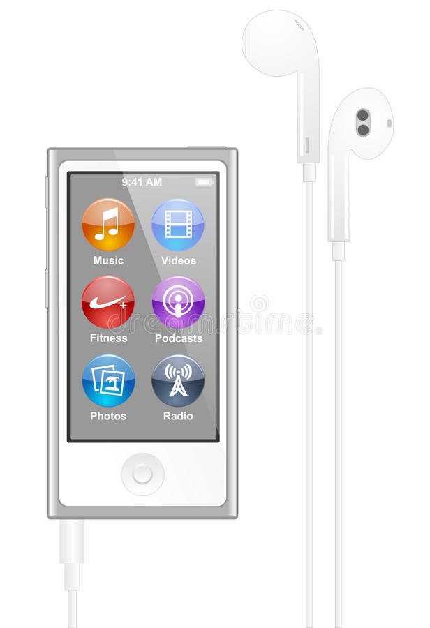 äpple iPod Nano vektor illustrationer