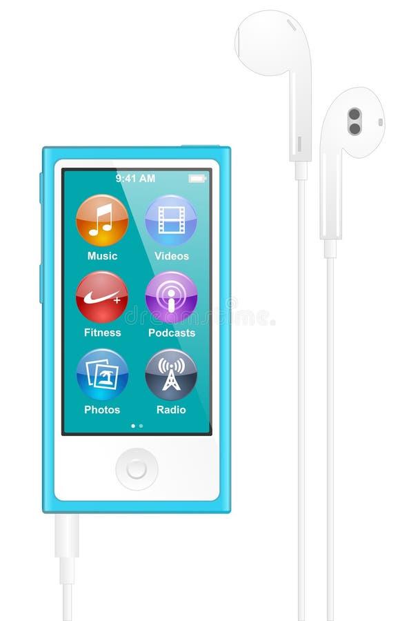 äpple iPod Nano vektor illustrationer