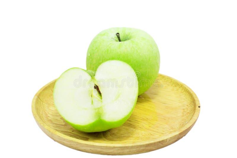 äpple - isolerad green arkivfoton