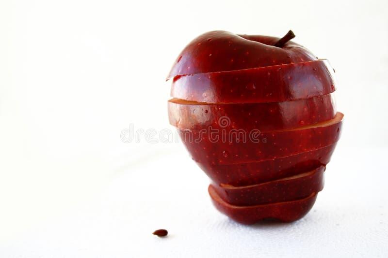 äpple isolerade lager royaltyfria bilder