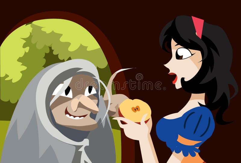 äpple mitt ditt gift arkivbild