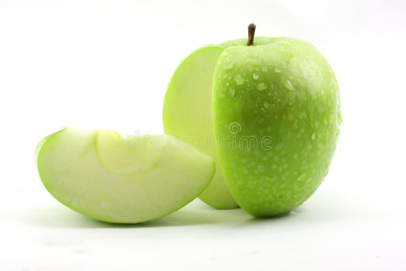 äpple - skivad green arkivfoton