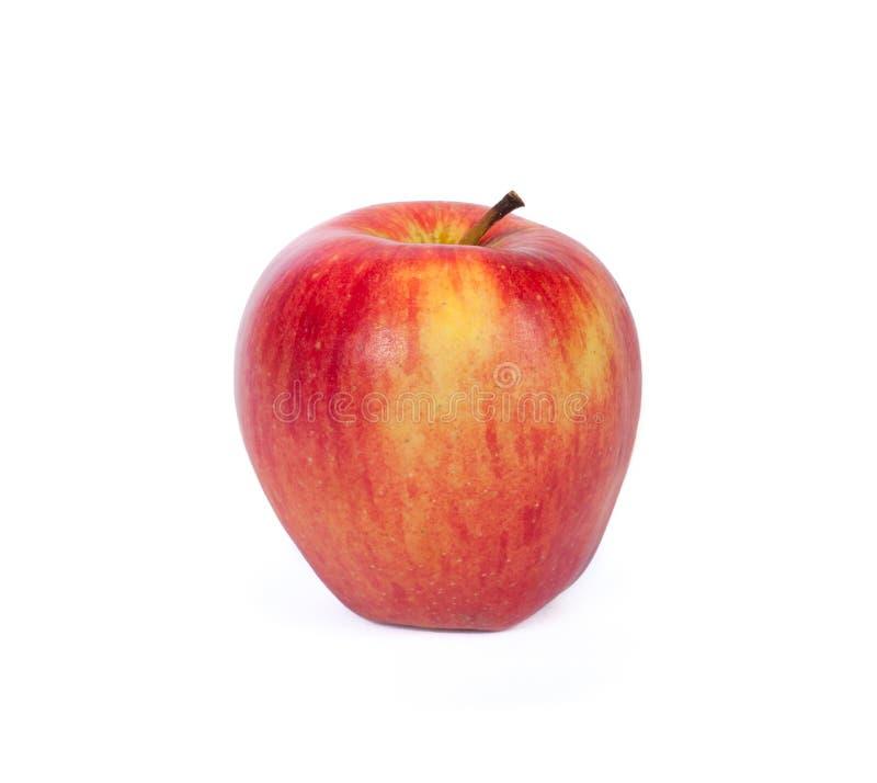 äpplebakgrundsclose upp white arkivbilder