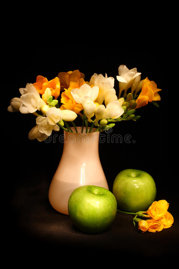 äppleblommalivstid fortfarande fotografering för bildbyråer